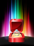 Diamond Ring on Abstract Spectrum Background Royalty Free Stock Photo