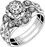 Diamond Ring aglomerado ilustração royalty free
