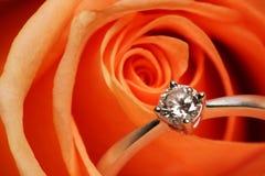 Free Diamond Ring And Rose Stock Photos - 7330513