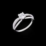 Diamond ring on black background Royalty Free Stock Image