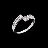 Diamond ring on black background Royalty Free Stock Photo