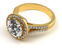 Diamond ring on black Royalty Free Stock Photos
