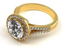 Diamond ring on black royalty free stock photos