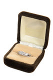 Diamond Ring in a box Stock Photography