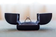 Diamond Ring. A diamond Ring in box Stock Photos