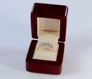 Diamond ring in a box Royalty Free Stock Photos