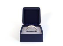 Diamond Ring in Box Royalty-vrije Stock Foto's