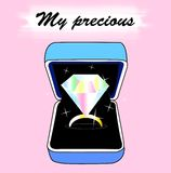 Diamond Ring in a Box Stock Foto