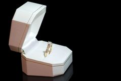 Diamond ring in a box Stock Photo