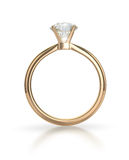 Diamond ring with clipping path Royalty Free Stock Photos