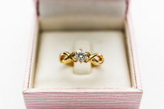Diamond Ring Closeup Royalty-vrije Stock Afbeelding