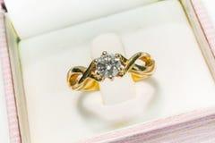 Diamond Ring Closeup Royalty-vrije Stock Afbeeldingen
