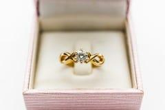 diamond ring closeup Royalty Free Stock Image