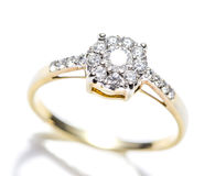Diamond Ring Closeup Stock Image