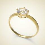 Diamond Ring 3D Illustratie Stock Afbeelding