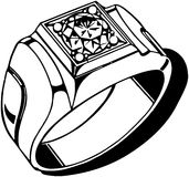 Diamond Ring des hommes Illustration Libre de Droits
