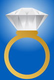 Diamond Ring - Gold Band. Diamond Ring with Gold Band Stock Photography