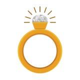 Diamond ring icon. Diamond ring luxury jewelry accessory. vector illustration Royalty Free Stock Photography