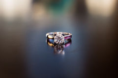 Diamond Ring. Isolated on a black background Stock Photography