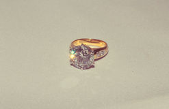 Diamond ring. Isolated with clipping path Stock Photography