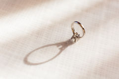Diamond Ring. Isolated on a white background Stock Image