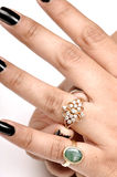 Diamond ring jewellery Stock Photo