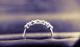 Diamond ring. This is my own diamond ring, with two plus flash filmed, color, very beautiful Stock Images