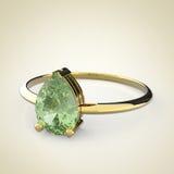 Diamond Ring op een lichte achtergrond 3D Illustratie Stock Foto