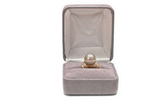 Diamond ring with pearls Royalty Free Stock Image