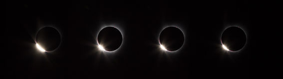 Diamond ring phase of solar eclipse Stock Photo