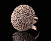 Diamond ring with reflection Stock Photos