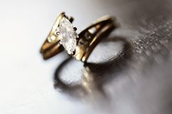 Diamond Ring Representing Love and Commitment Stock Photo