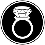 Diamond Ring Symbol Fotografía de archivo libre de regalías