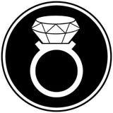 Diamond Ring Symbol Royalty Free Stock Photography