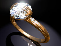 Diamond  ring with top design Royalty Free Stock Photography