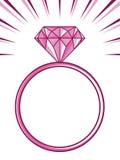 Diamond ring. Vector illustration of the diamond ring vector illustration