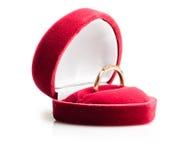 Diamond ring in a velvet box Royalty Free Stock Photo