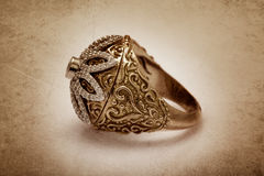 Diamond ring with vintage effect Stock Photography