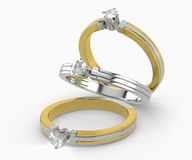 Diamond Rings Stock Photography