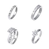 Diamond rings Stock Image