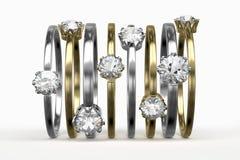 Diamond Rings Image libre de droits