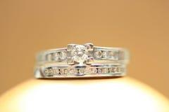 Diamond Rings Stock Afbeelding