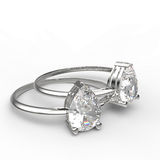Diamond Rings Abbildung 3D Lizenzfreies Stockfoto