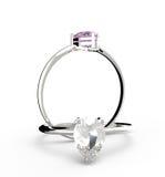 Diamond Rings Abbildung 3D Stockfoto