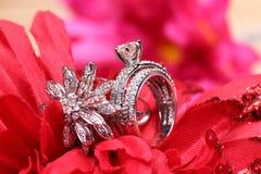 Diamond rings. Beautiful shot of diamond rings Stock Images