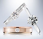 Diamond Rings Royalty Free Stock Photos