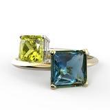 Diamond Rings 3D Illustratie Stock Afbeelding