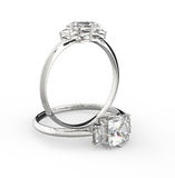 Diamond Rings illustration 3D Photographie stock