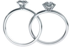 Diamond rings intertwined Stock Images