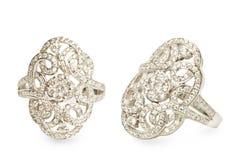 Diamond rings Stock Photos
